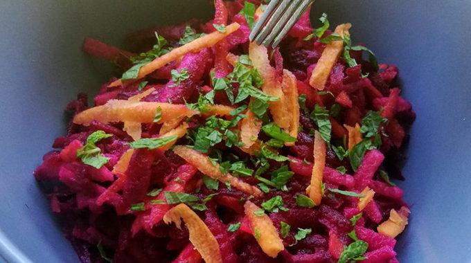 Mentás citromos cékla saláta recept vegánblog