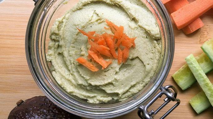 avokádós humusz recept vegánblog