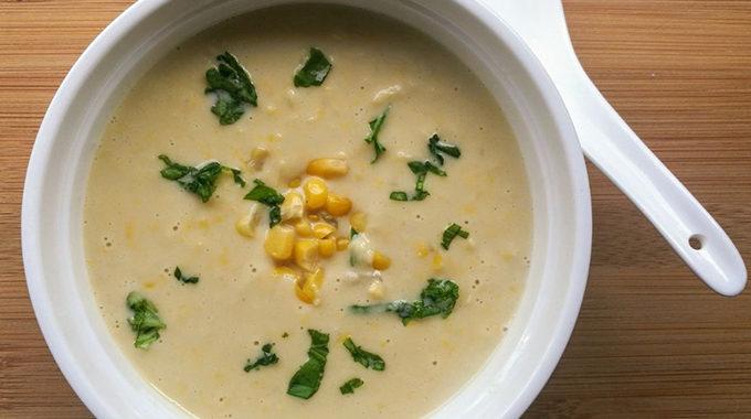 vegán kukorica krémleves recept vegánblog