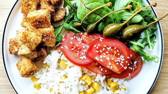 vegán sült tofu kockák vegánblog