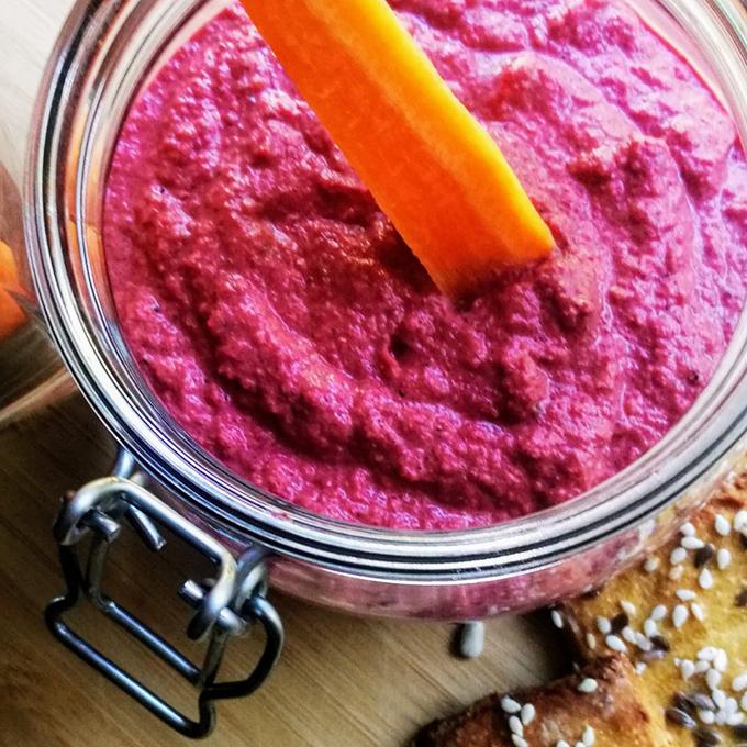 cékla humusz recept vegánblog
