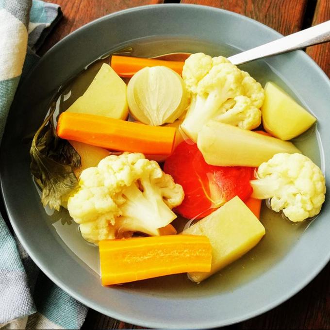 karfiolleves recept vegánblog