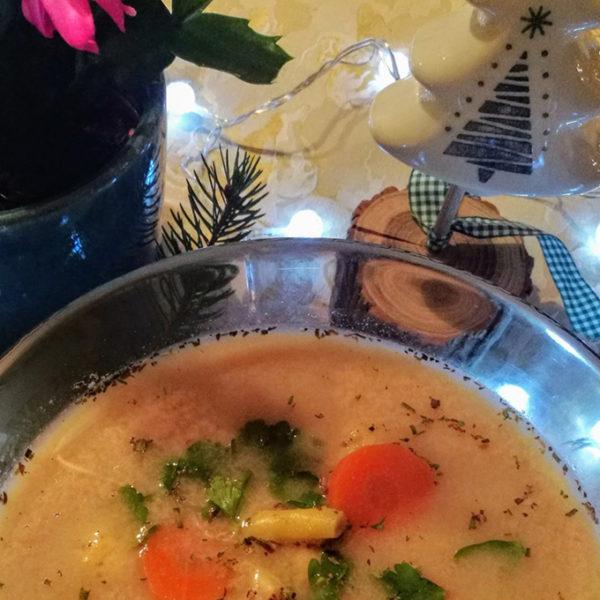 tárkonyos burgonyagombóc leves recept vegánblog