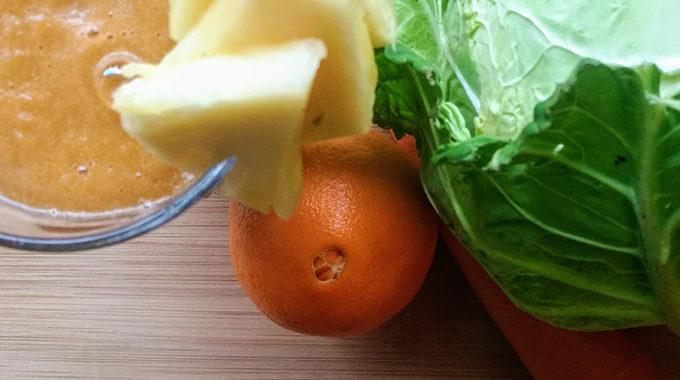 kel-ananász-narancs smoothie recept vegánblog