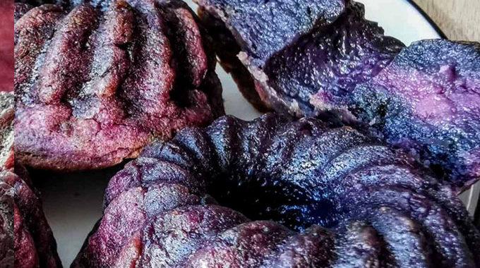 vegán Lila édesburgonyás muffin mini kuglóf vegánblog