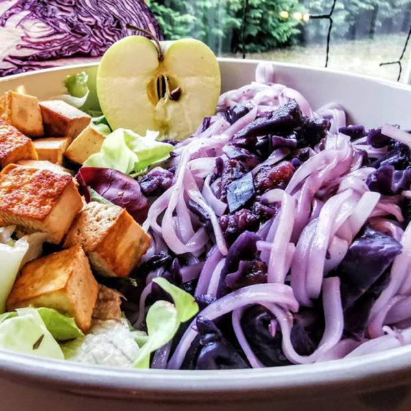 vegán lilakáposztás tészta vegánblog