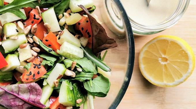 vegán tahinis mustáros saláta öntet recept vegánblog