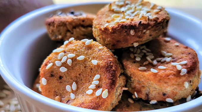 gluténmentes vegán krumplis pogácsa recept vegánblog