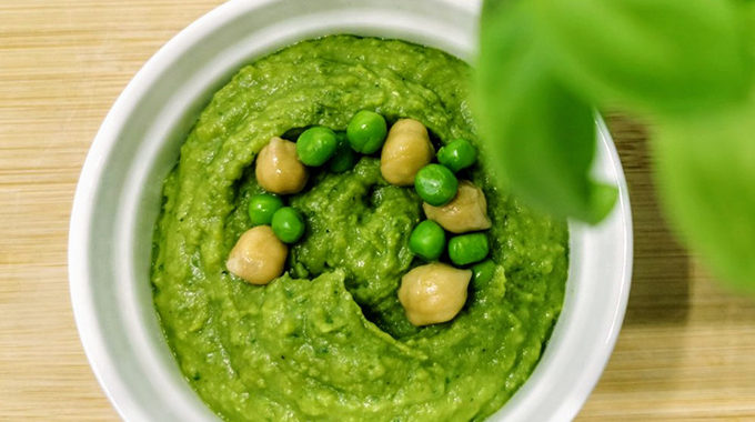 vegán zöldborsós humusz recept vegánblog