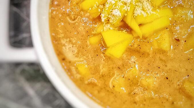 vegán mangó leves recept bódi sylvi vegánblog