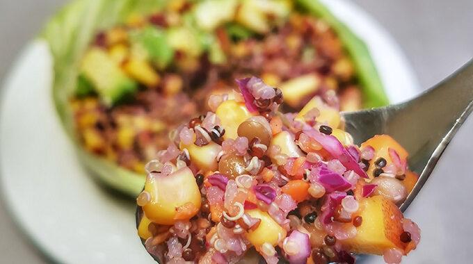 quinoa saláta recept vegánblog
