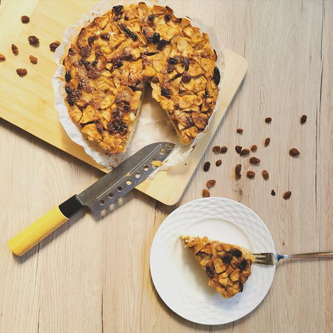 lisztmentes almás pite recept vegánblog