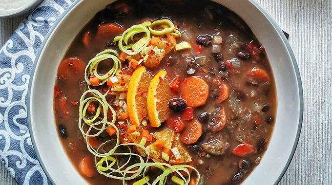 kubai feketebableves recept vegánblog