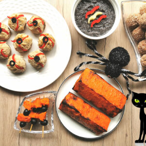 5 vegán recept Halloweenre
