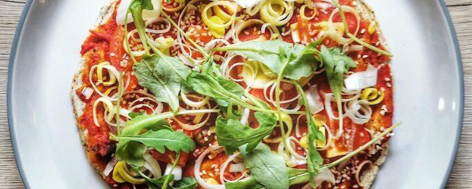serpenyős pizza recept vegánblog